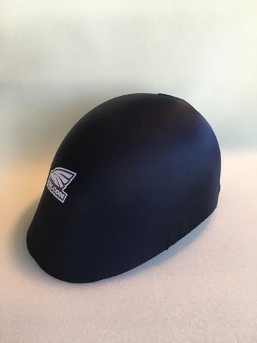 casco para bicicleta negro multifunción c funda lycra