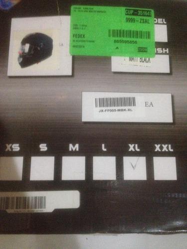 casco para caballero con lente interno (importado) nuevo