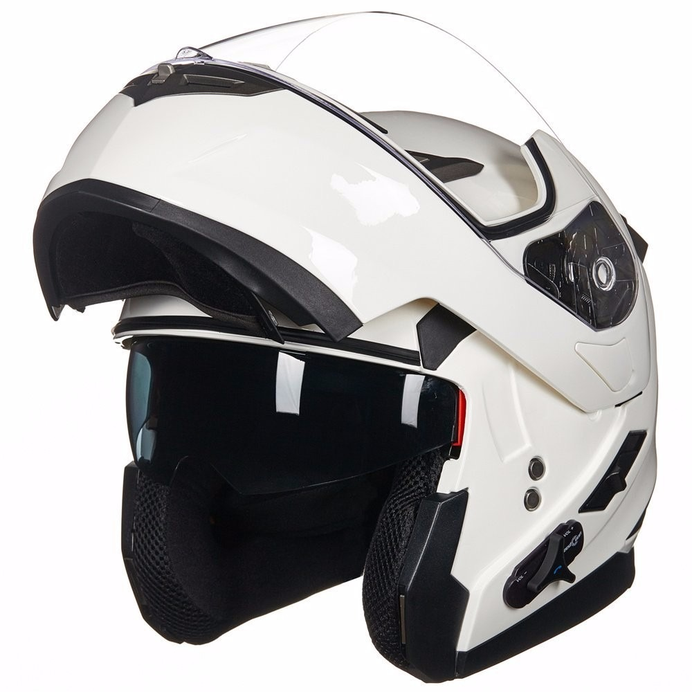 Casco Para Moto Ilm Bluetooth Mp3 Blanco Grande 7 199
