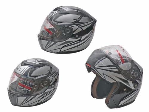 casco para moto con visera & gafas