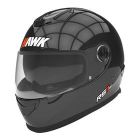Casco Para Moto Integral Hawk Rs11 Negro Talle S