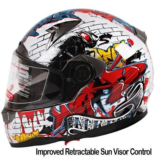 como serch 100% autenticado bajo precio Casco Para Moto Personalizado Doble Visera Iv2