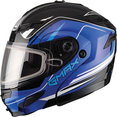 casco para motonieve gmax gm54 terrain modular negro/azul sm