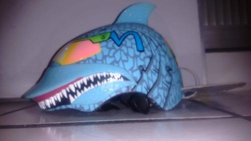 casco para nino raskullz edicion especial shark attax