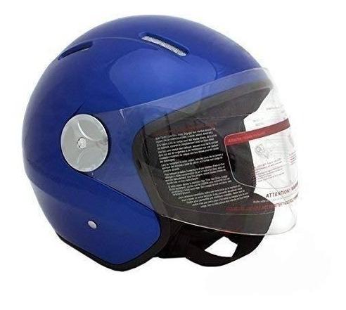 casco para piloto de motocicleta scooter con cara abierta, a