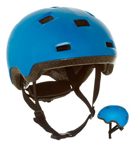 casco para roller skateboard monopatín b100 azul