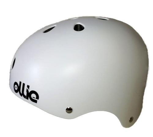 casco patines o skate ollie color plomo mate