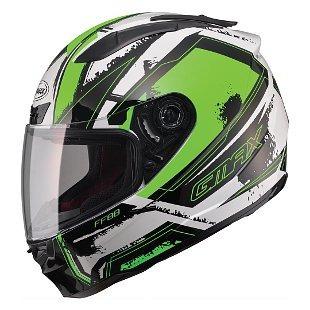 casco p/calle gmax ff88 x-star rostro completo blanc/verd sm