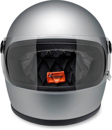 casco p/motocicleta biltwell gringo s plateado liso mate xl