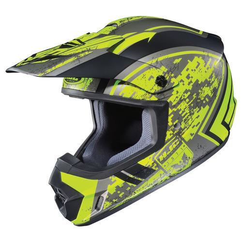 casco p/motociclista/motocross hjc cs-mx 2 mate amar/neg 2xl