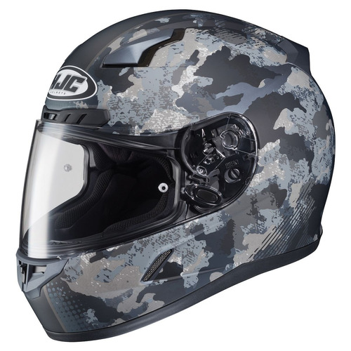casco p/motocross hjc cl-17 void mx mate negro/camuflado md