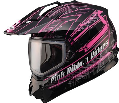 casco p/motonieve gmax gm11 trekka negro/rosa sm cinta rosa