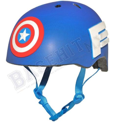 casco protector capitan américa niños 3 a 7 bicicleta skate