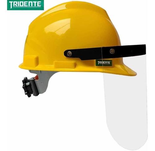 casco protector + careta facial mascarilla / mercadopago
