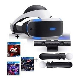 Casco Realidad Virtual Sony Ps4 Vr +camara+moves+3 Juegos Nuevo Modelo V2!!