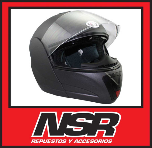 casco rebatible max v can v210 doble visor negro 2015 nsr
