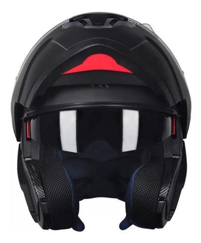casco rebatible mt atom doble visor negro en freeway
