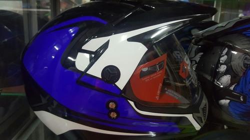 casco reglamentario spark tipo cross con visor