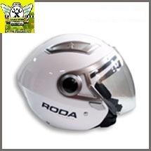 casco roda  3/4 blanco