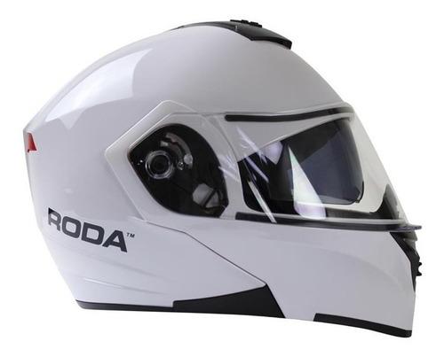 casco roda luminar abatible luz led gafas certificado dot