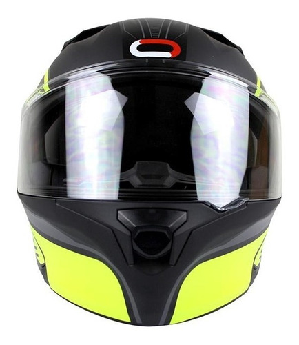 casco roda rush wodz amarillo mate abatible certificado dot