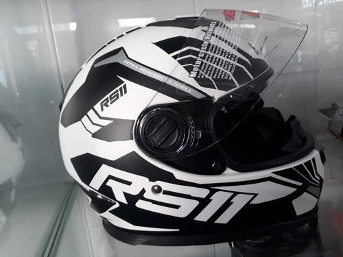 casco rs11 full revo modelo nuevo + visor oscuro motovega