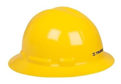 casco seguridad ala ancha amarillo truper 10566