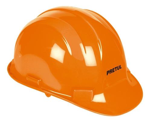 casco seguridad naranja pretul 25036