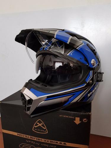 casco shaft pro tipo cross visor