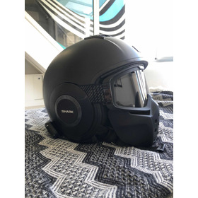Casco Shark Dark Matt Modular + Intercom