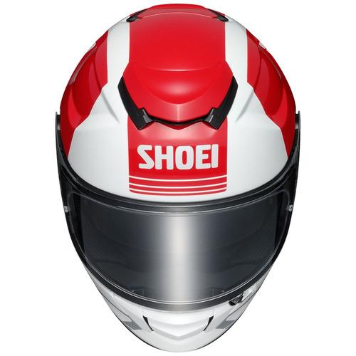 casco shoei gt-air decade rostro completo rojo lg