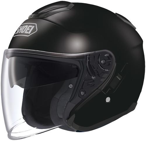 casco shoei j-cruise sólido rostro descubierto negro xs