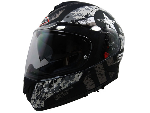 Casco Smk Twister Captain Integral Para Moto Con Lente