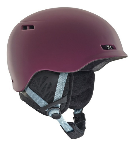 casco snowboard mujer anon griffon purple