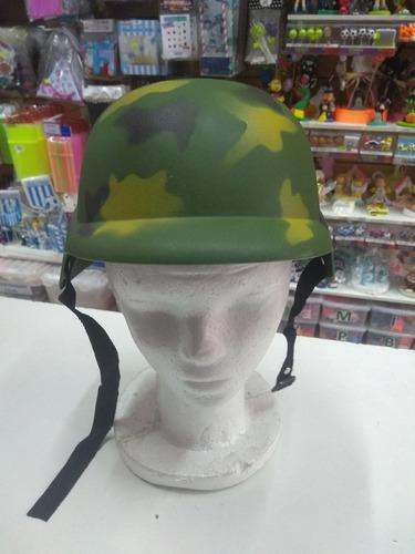 casco soldado militar camuflado plastico duro