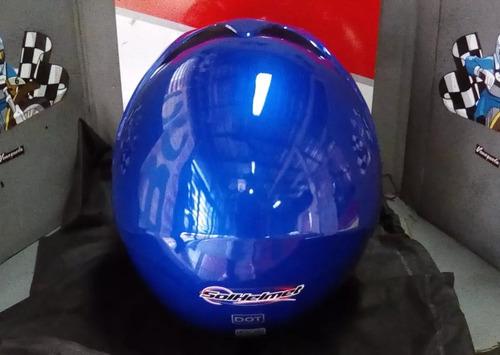 casco solhelmet semi-integral mod. bld-203 blue talla m