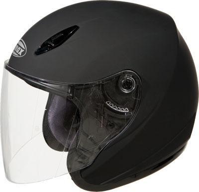casco sólido gmax gm17s de plana black xs