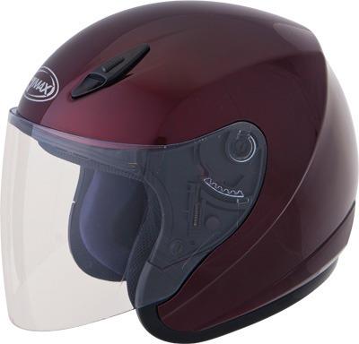casco sólido gmax gm17s, rojo vino, sm