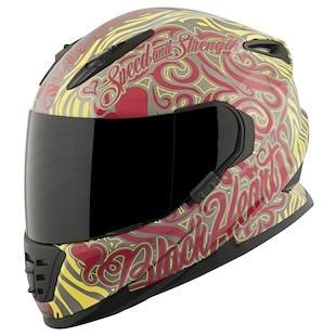 casco speed & strength black heart ss1310 rojo/amarillo xl