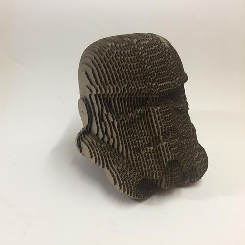 casco stormtrooper de cartón rompecabezas 3d