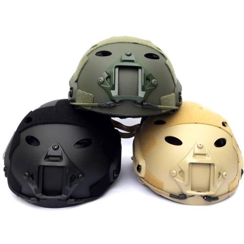 casco tactico de airsoft / paintball con regulador.