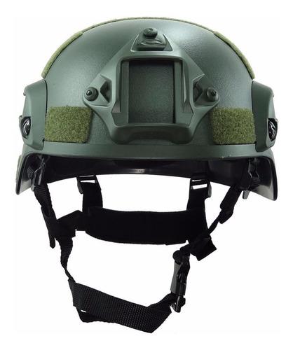 casco táctico militar gotcha airsoft moto proteccion