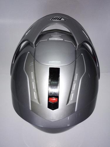 casco thh-378 con vicera transp. desliza lente de sol