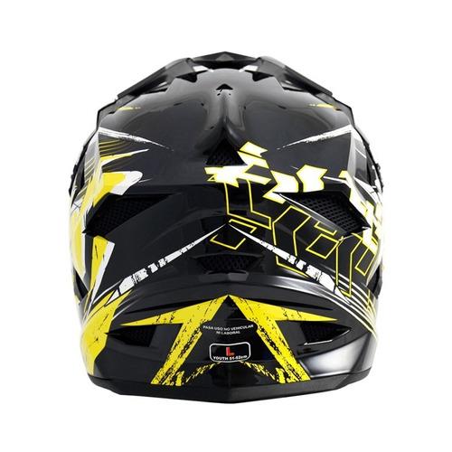 casco thh downhill bicicleta niño t42 amarillo solomototeam
