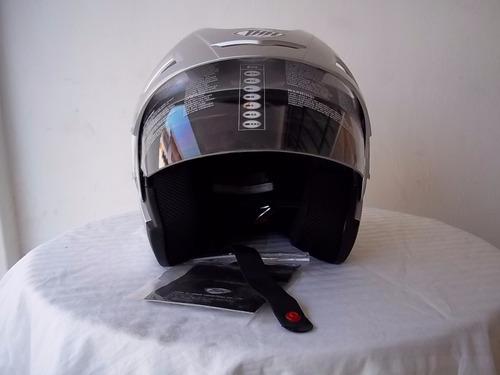 casco thh t-378 con vicera transp. desliza lente de sol
