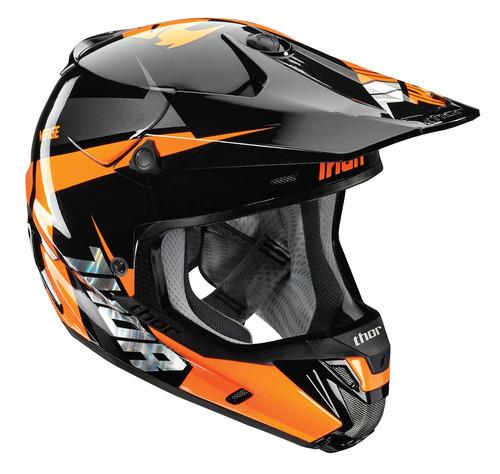 casco thor verge rebound 2016 mx naranja/negro xs
