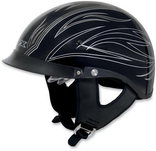 casco tipo alemán afx fx-200 c/rayas finas plateado xs