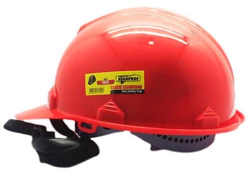 casco tipo cachucha 6 apoyos rojo weld well  (u.e.:50)