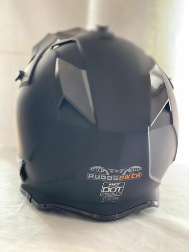 casco tipo cross negro mate certificacion dot tallas