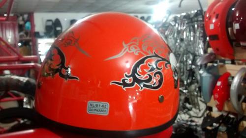 casco tipo policia color naranja